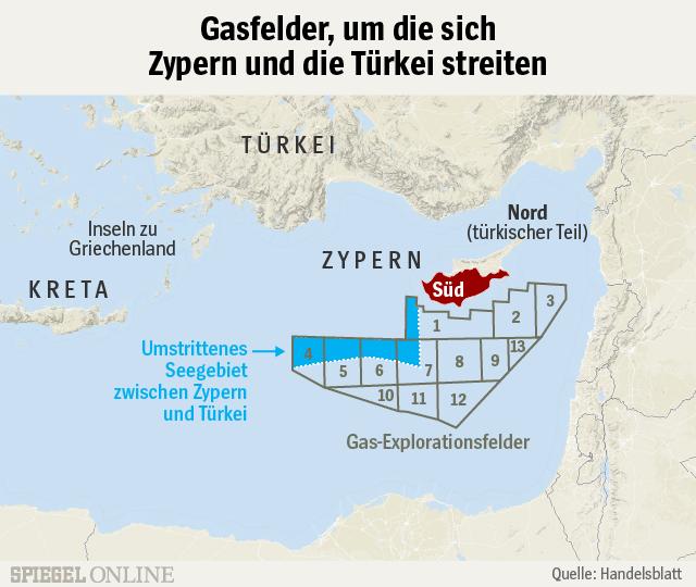 Bildergebnis für zypern gasexplorationsfelder